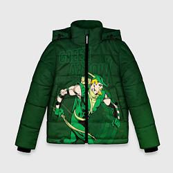 Куртка зимняя для мальчика Green Arrow цвета 3D-черный — фото 1