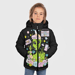 Куртка зимняя для мальчика I want to believe цвета 3D-черный — фото 2
