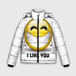 Куртка зимняя для мальчика I like you цвета 3D-черный — фото 1
