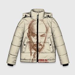 Куртка зимняя для мальчика Ленин цвета 3D-черный — фото 1