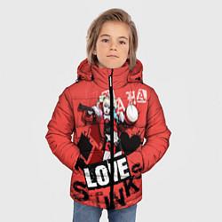 Куртка зимняя для мальчика Harley Quinn цвета 3D-черный — фото 2