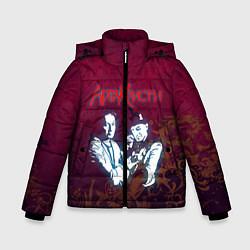 Куртка зимняя для мальчика Агата Кристи цвета 3D-черный — фото 1