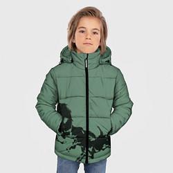 Куртка зимняя для мальчика Черные кони цвета 3D-черный — фото 2