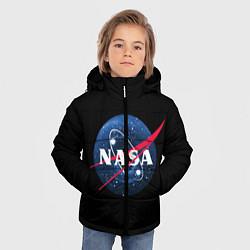 Куртка зимняя для мальчика NASA Black Hole цвета 3D-черный — фото 2