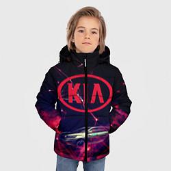 Детская зимняя куртка для мальчика с принтом КIA, цвет: 3D-черный, артикул: 10202347306063 — фото 2