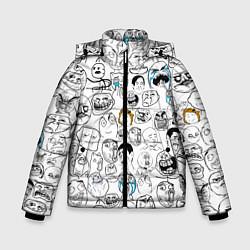 Куртка зимняя для мальчика МЕМЫ цвета 3D-черный — фото 1