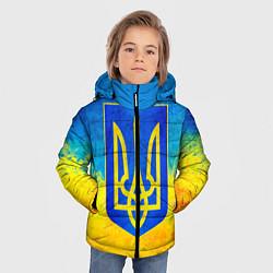 Детская зимняя куртка для мальчика с принтом Флаг, цвет: 3D-черный, артикул: 10203595706063 — фото 2