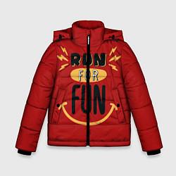 Куртка зимняя для мальчика Бег для удовольствия цвета 3D-черный — фото 1