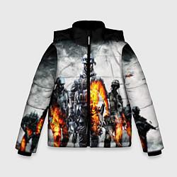 Куртка зимняя для мальчика Battlefield цвета 3D-черный — фото 1
