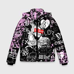 Куртка зимняя для мальчика LIL PEEP цвета 3D-черный — фото 1