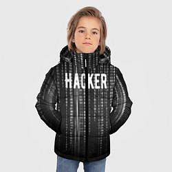 Куртка зимняя для мальчика Hacker цвета 3D-черный — фото 2
