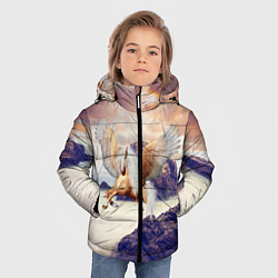 Куртка зимняя для мальчика Sea Sunset Horse цвета 3D-черный — фото 2