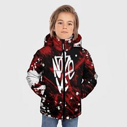 Куртка зимняя для мальчика Noize MC цвета 3D-черный — фото 2