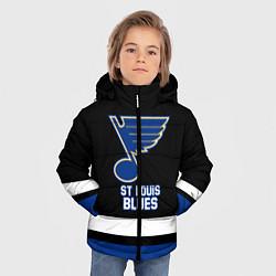 Куртка зимняя для мальчика Сент-Луис Блюз цвета 3D-черный — фото 2