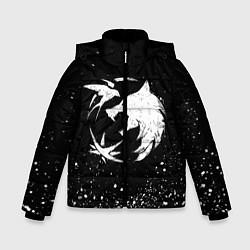 Куртка зимняя для мальчика ВЕДЬМАК цвета 3D-черный — фото 1