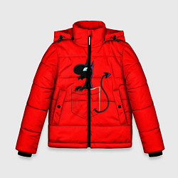 Куртка зимняя для мальчика Disenchantment цвета 3D-черный — фото 1