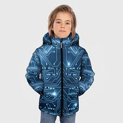 Куртка зимняя для мальчика Системная плата цвета 3D-черный — фото 2