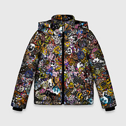 Куртка зимняя для мальчика FNaF стикербомбинг цвета 3D-черный — фото 1