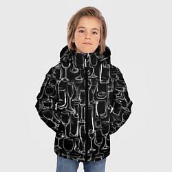 Куртка зимняя для мальчика Стеклянный бармен цвета 3D-черный — фото 2
