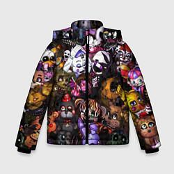 Куртка зимняя для мальчика Five Nights At Freddy's цвета 3D-черный — фото 1