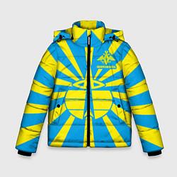 Куртка зимняя для мальчика Космические войска цвета 3D-черный — фото 1