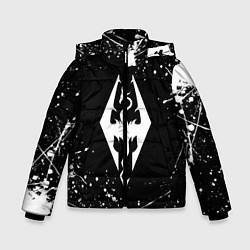 Куртка зимняя для мальчика THE ELDER SCROLLS цвета 3D-черный — фото 1