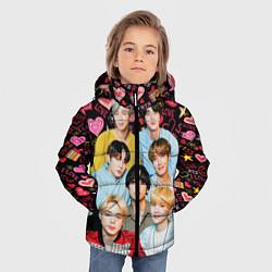 Куртка зимняя для мальчика I Love BTS цвета 3D-черный — фото 2