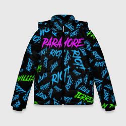 Куртка зимняя для мальчика Paramore RIOT! цвета 3D-черный — фото 1