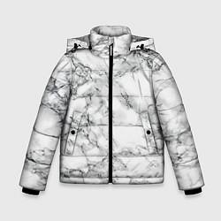Куртка зимняя для мальчика Мрамор цвета 3D-черный — фото 1