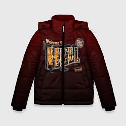 Куртка зимняя для мальчика Welcome To Hell цвета 3D-черный — фото 1