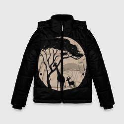 Куртка зимняя для мальчика Жираф цвета 3D-черный — фото 1