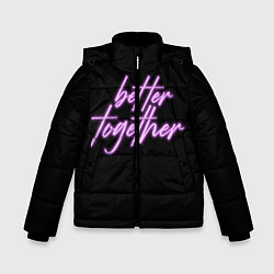 Куртка зимняя для мальчика Вместе лучше цвета 3D-черный — фото 1