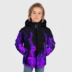 Куртка зимняя для мальчика ФИОЛЕТОВЫЙ ОГОНЬ цвета 3D-черный — фото 2