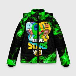 Куртка зимняя для мальчика Brawl Stars Leon Trio цвета 3D-черный — фото 1
