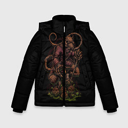 Куртка зимняя для мальчика Черепашки-ниндзя: Сплинтер цвета 3D-черный — фото 1
