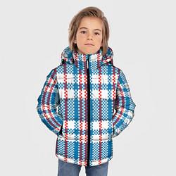 Куртка зимняя для мальчика Текстура Сумка Челнока цвета 3D-черный — фото 2