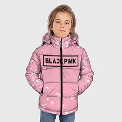 Куртка зимняя для мальчика BLACKPINK цвета 3D-черный — фото 2