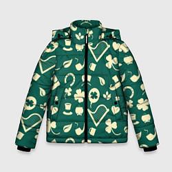 Куртка зимняя для мальчика Ирландский арт цвета 3D-черный — фото 1