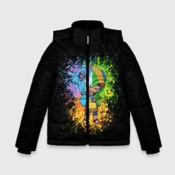 Куртка зимняя для мальчика Brawl Stars Leon цвета 3D-черный — фото 1