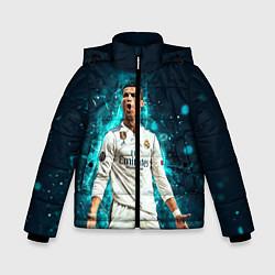 Куртка зимняя для мальчика Роналдо цвета 3D-черный — фото 1