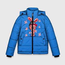 Куртка зимняя для мальчика Милый Заяц цвета 3D-черный — фото 1