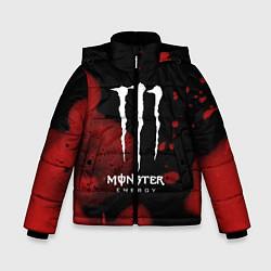 Куртка зимняя для мальчика MONSTER ENERGY цвета 3D-черный — фото 1
