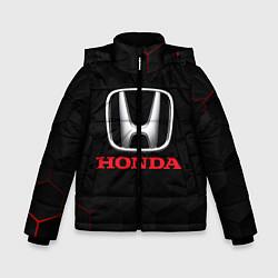Куртка зимняя для мальчика HONDA цвета 3D-черный — фото 1
