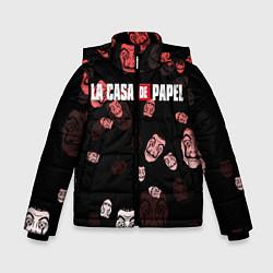 Куртка зимняя для мальчика La Casa de Papel Z цвета 3D-черный — фото 1