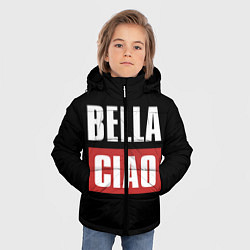 Куртка зимняя для мальчика Bella Ciao цвета 3D-черный — фото 2