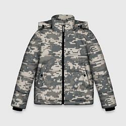 Куртка зимняя для мальчика Цифровой камуфляж цвета 3D-черный — фото 1