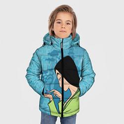 Куртка зимняя для мальчика Mulan and Cri-Kee цвета 3D-черный — фото 2