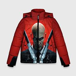 Куртка зимняя для мальчика HITMAN цвета 3D-черный — фото 1