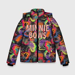 Детская зимняя куртка для мальчика с принтом Minnie Bows, цвет: 3D-черный, артикул: 10250087306063 — фото 1
