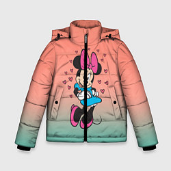 Детская зимняя куртка для мальчика с принтом Минни Маус, цвет: 3D-черный, артикул: 10250094106063 — фото 1
